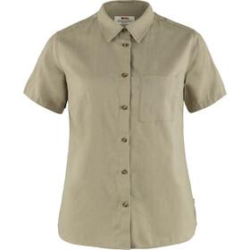 Fjällräven Övik Travel SS Shirt Women, beige